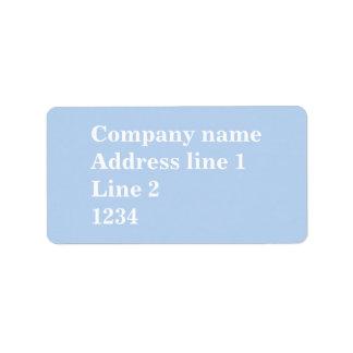 Baby blue address label