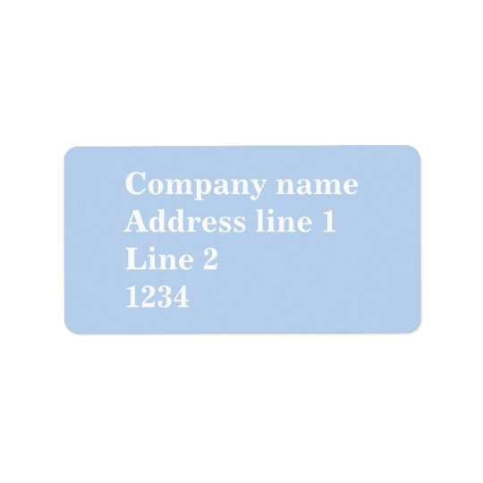 Baby blue address label