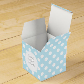 Baby Blue and dots ı party box Party Favour Box