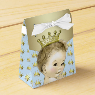 Baby Blue and Gold Prince Baby Shower Favour Box