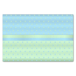 Baby Blue and Pastel Green Polka Dots Tissue Paper