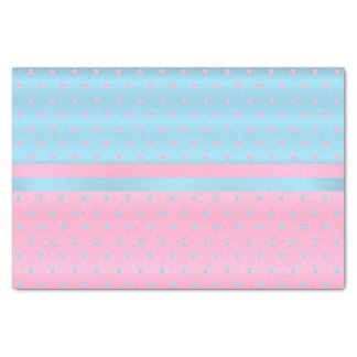 Baby Blue and Pastel Pink Polka Dots Tissue Paper