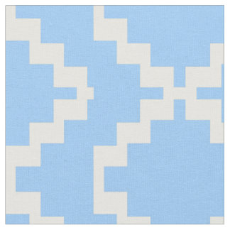 Baby Blue and White Mexica Fabric