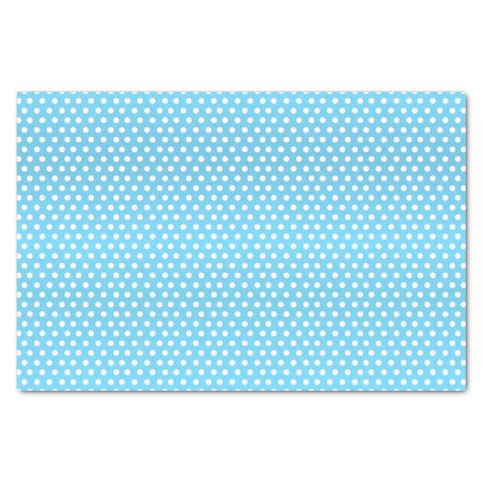 Baby Blue and White Polka Dots Tissue Paper
