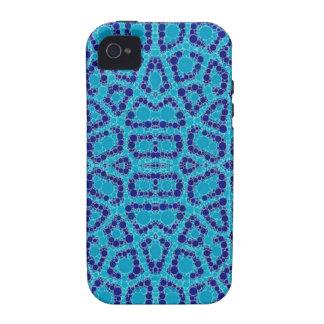 Baby Blue Animal Print iPhone 4/4S Cases