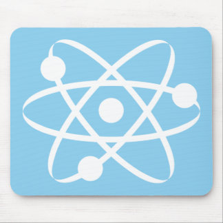 Baby Blue Atom Mouse Pad