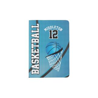 Baby Blue Basketball Design | Personalize Passport Holder