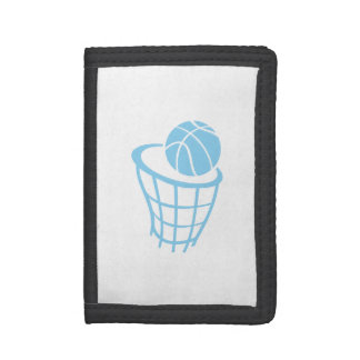 Baby Blue Basketball Tri-fold Wallet