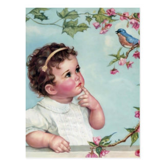 Baby Blue Bird Postcard