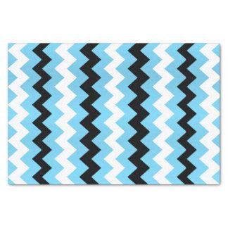 Baby Blue, Black White Chevron Tissue Paper
