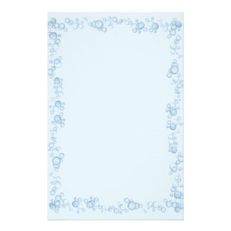 Baby Blue Bubble Border Design Personalised Stationery