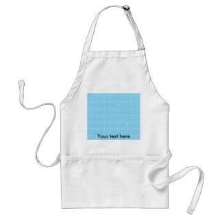 Baby blue bubble pattern standard apron