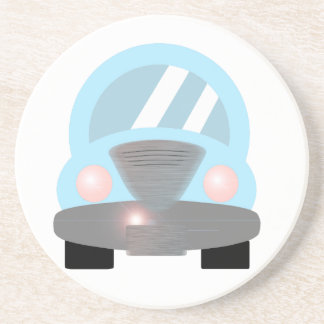Baby Blue Car Coasters