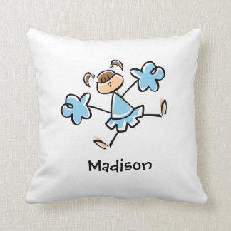 Baby Blue Cheerleader Cushion