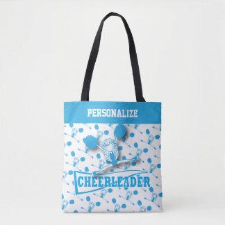 Baby Blue Cheerleader Girl Tote Bag