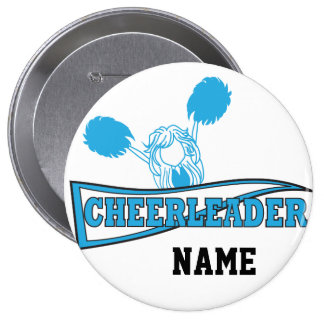 Baby Blue Cheerleader | Personalize 10 Cm Round Badge