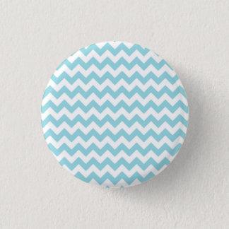 Baby Blue Chevron 3 Cm Round Badge