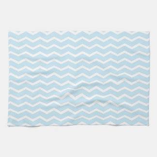 Baby Blue Chevron Pattern Tea Towel