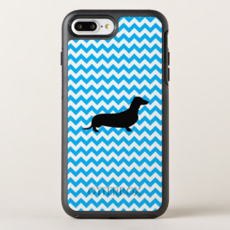 Baby Blue Chevron With Dachshund OtterBox Symmetry iPhone 7 Plus Case