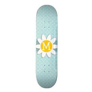 Baby Blue Circles; Daisy Skateboard Deck