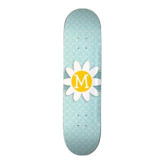 Baby Blue Circles Daisy Skateboard Deck