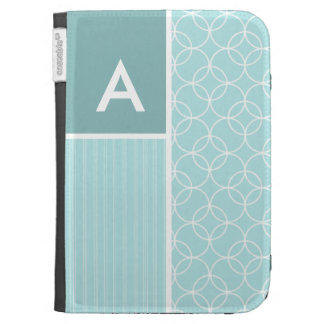 Baby Blue Circles Kindle Keyboard Cases