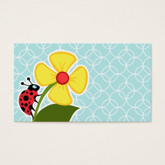 Baby Blue Circles; Ladybug Business Card