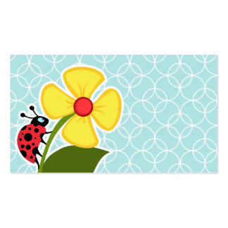Baby Blue Circles; Ladybug Pack Of Standard Business Cards