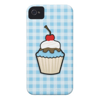 Baby Blue Cupcake iPhone 4 Case-Mate Cases