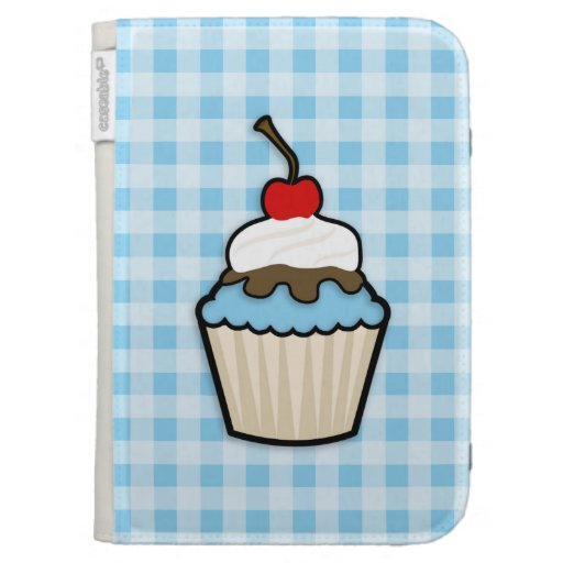 Baby Blue Cupcake Kindle 3G Case