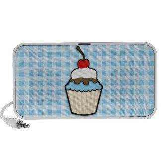 Baby Blue Cupcake Laptop Speakers