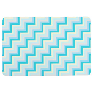 BABY BLUE DIAGONAL CHEVRON PATTERN FLOOR MAT