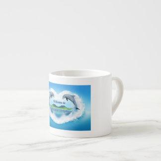 Baby Blue Dolphin Espresso  Mug