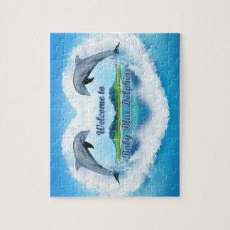 Baby Blue Dolphin Jigsaw Jigsaw Puzzle
