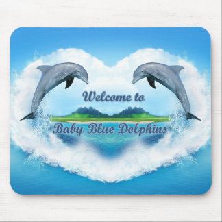 Baby Blue Dolphin Mouse Pad