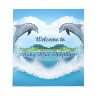 Baby Blue Dolphin Notepad