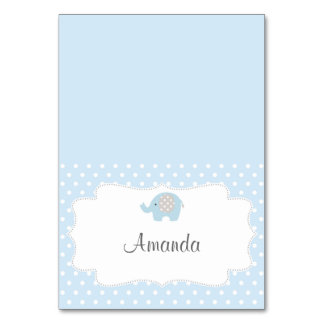 Baby Blue Elephant Place Card Table Cards