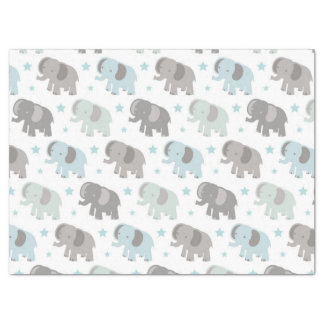 Baby Blue Elephant Tissue Paper