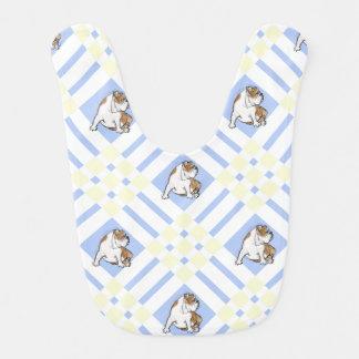 Baby Blue English Bulldog Bibs