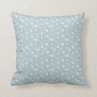 Baby Blue Floral Pillows