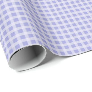 Baby Blue Gingham Wrapping Paper