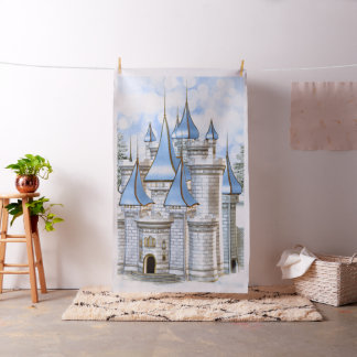 Baby Blue Gold Castle Photo Booth Backdrop