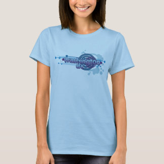 Baby Blue Graphic Circle Washington DC T-Shirt