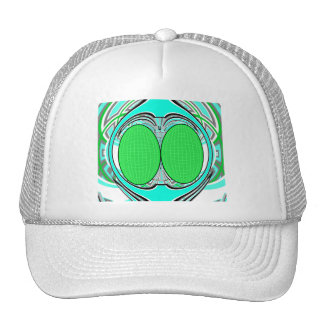 Baby blue green superfly design cap
