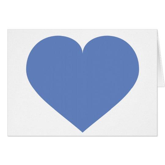 Baby blue heart - blank inside card