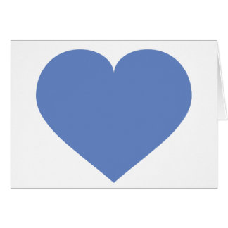 Baby blue heart - blank inside greeting card