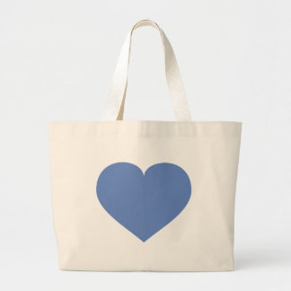 Baby blue heart large tote bag