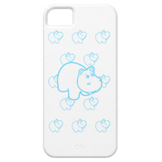 Baby Blue Hippo Barely There iPhone 5 Case