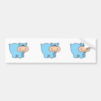 baby blue hippo bumper sticker