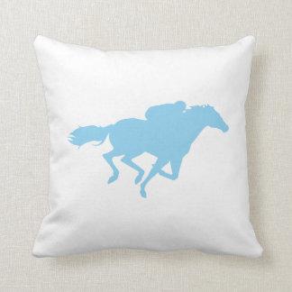 Baby Blue Horse Racing Cushion
